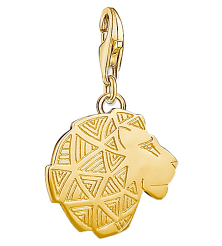 THOMAS SABO Lion 18ct gold-plated charm