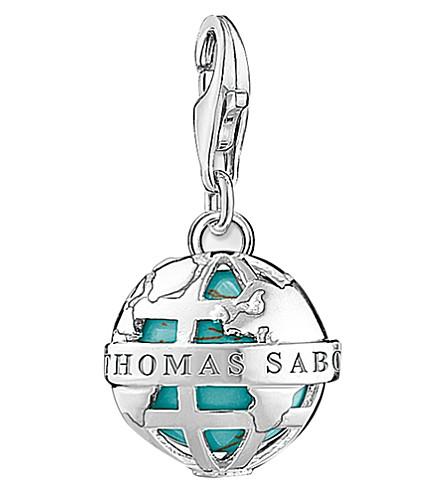 THOMAS SABO Globe sterling silver charm
