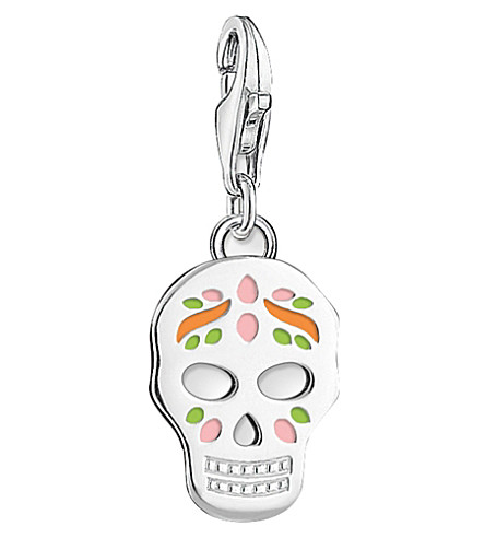 THOMAS SABO Charm Club sterling silver Mexican sugar skull charm