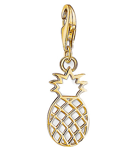 THOMAS SABO Charm Club 18ct yellow gold-plated pineapple charm