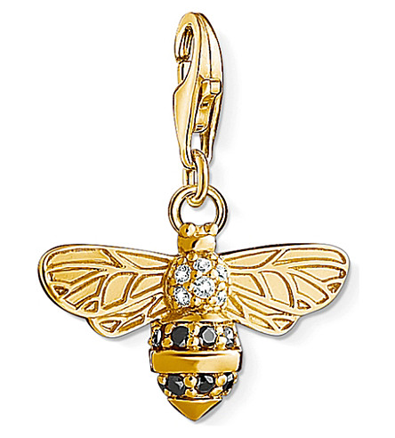 THOMAS SABO Charm Club 18ct gold-plated bee charm