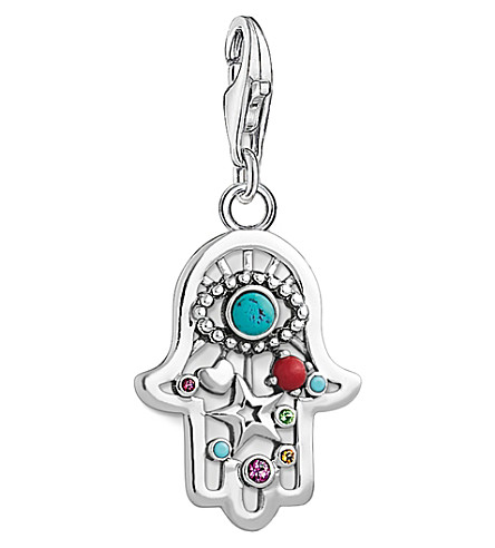 THOMAS SABO Charm club ethnic hand of Fatima and Nazar's eye silver charm pendant