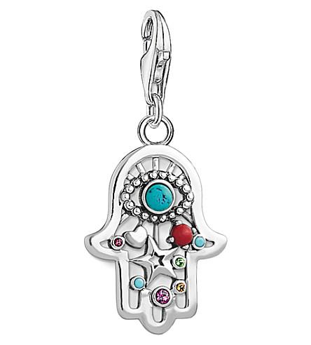 THOMAS SABO Charm club ethnic hand of Fatima and Nazar's eye silver charm pendant