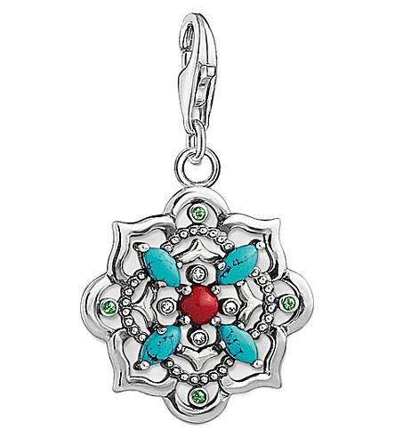 THOMAS SABO Charm club funky mandala silver charm pendant