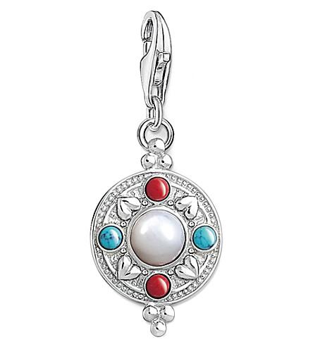 THOMAS SABO Charm Club lotus ethnic coin silver charm pendant