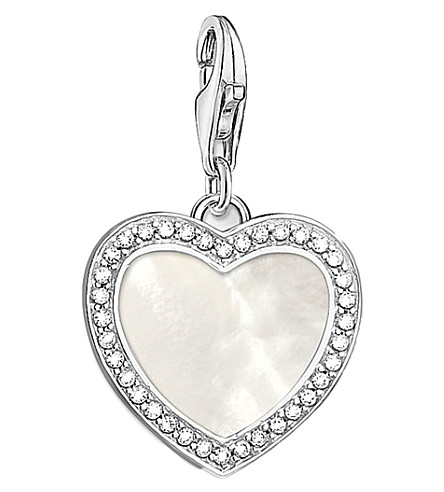 THOMAS SABO Charm Club With Love sterling silver and mother-of-pearl charm