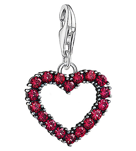 THOMAS SABO Charm Club sterling silver heart charm (Red