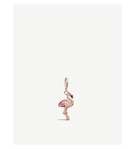 THOMAS SABO Charm Club 3D rose gold-plated flamingo charm