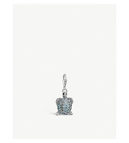 THOMAS SABO Charm Club sterling silver and turquoise tortoise charm