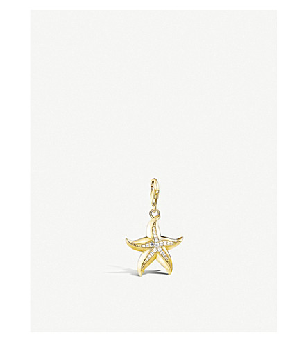 THOMAS SABO Starfish 18ct yellow gold-plated pendant