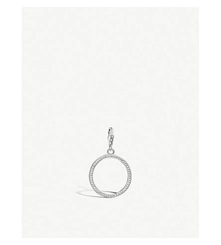 THOMAS SABO Circle sterling silver and white zirconia pendant
