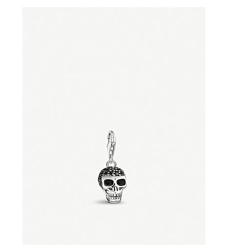 THOMAS SABO Skull sterling silver and black zirconia charm