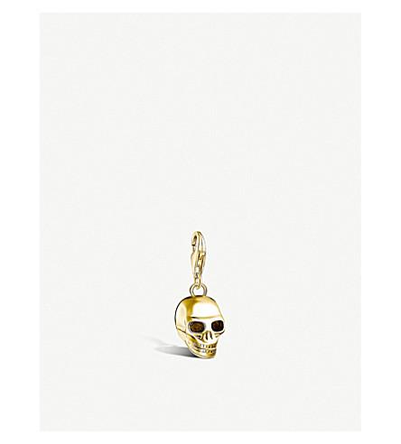 THOMAS SABO Skull 18ct yellow gold-plated pendant
