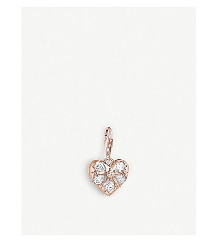 THOMAS SABO Charm Club Multi-stone rose-gold heart charm