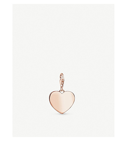 THOMAS SABO Heart 18ct rose gold-plated charm