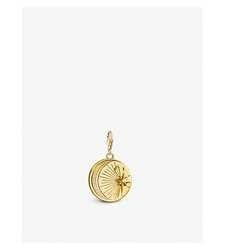 THOMAS SABO Moon and Twinkling Star 18ct yellow gold-plated charm