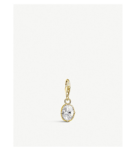 THOMAS SABO Vintage oval 18ct yellow gold-plated charm