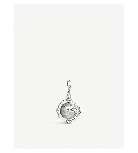 THOMAS SABO Rotatable globe sterling silver charm