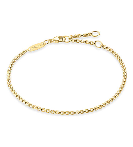 THOMAS SABO Gold-plated chain bracelet