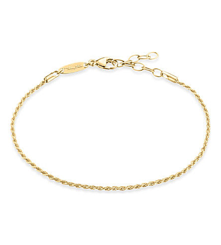 THOMAS SABO 18ct yellow gold-plated chain bracelet