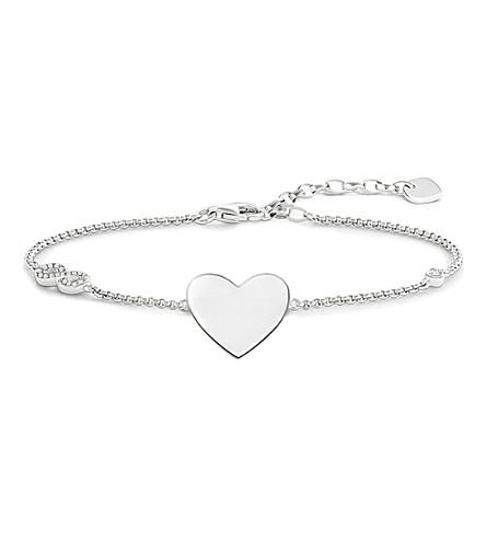 THOMAS SABO Glam & Soul sterling silver heart infinity bracelet