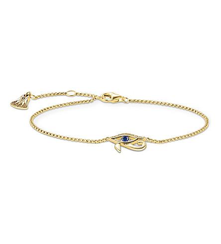 THOMAS SABO Nile treasures eye of horus gold-plated bracelet