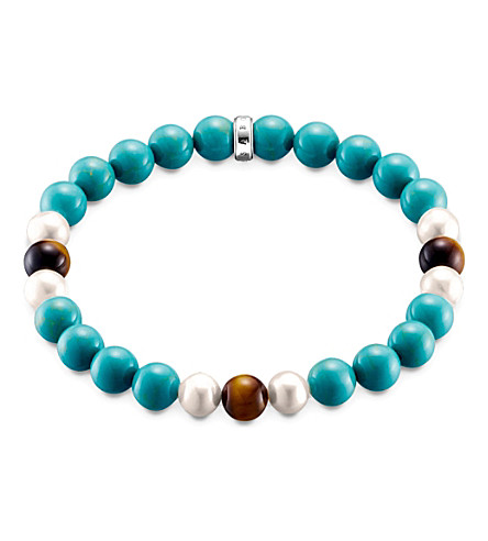 THOMAS SABO Rebel at Heart turquoise bracelet