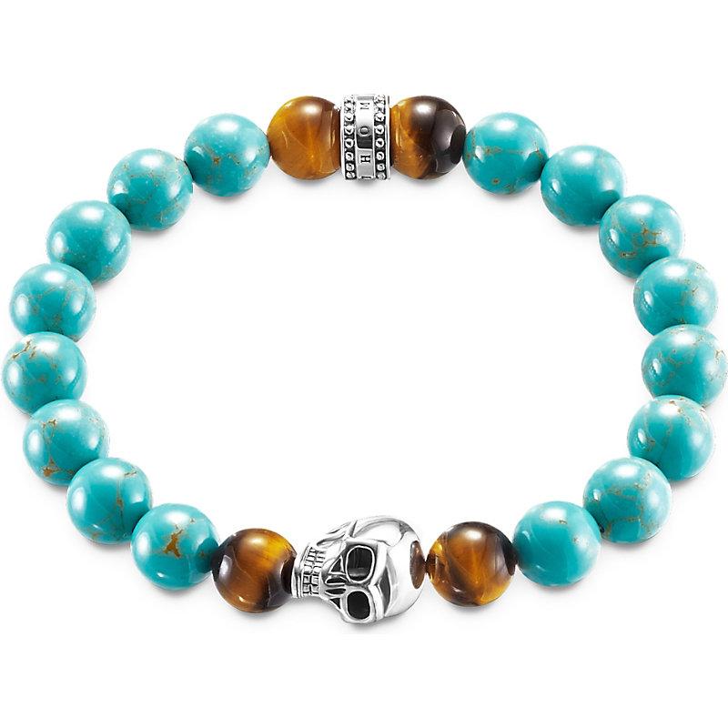 THOMAS SABO | Thomas Sabo Rebel At Heart Turquoise Skull Bracelet, Women'S, Size: S, Turquoise | Goxip