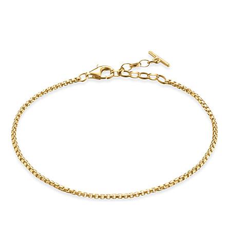 THOMAS SABO 经典18ct 黄色镀金纯银链式手链