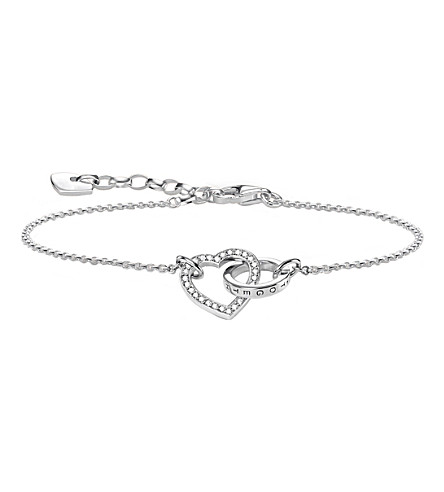 THOMAS SABO Together Forever heart sterling silver bracelet