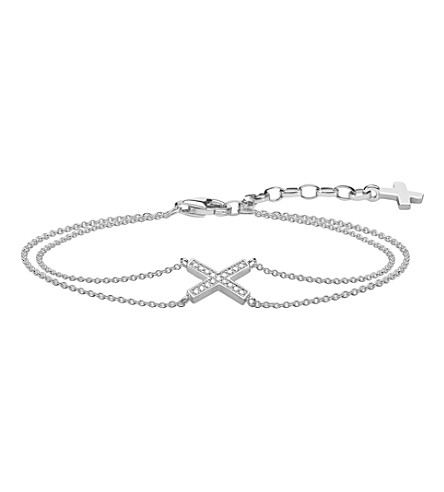 THOMAS SABO Classic x sterling silver and zirconia bracelet