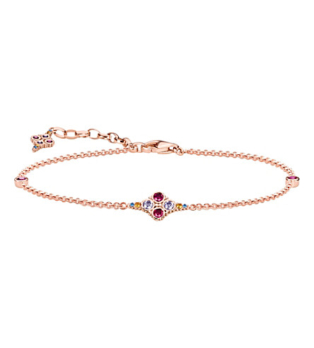 THOMAS SABO Royalty 18ct rose gold-plated bracelet