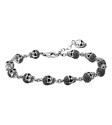 THOMAS SABO Rebel At Heart zirconia and sterling silver bracelet