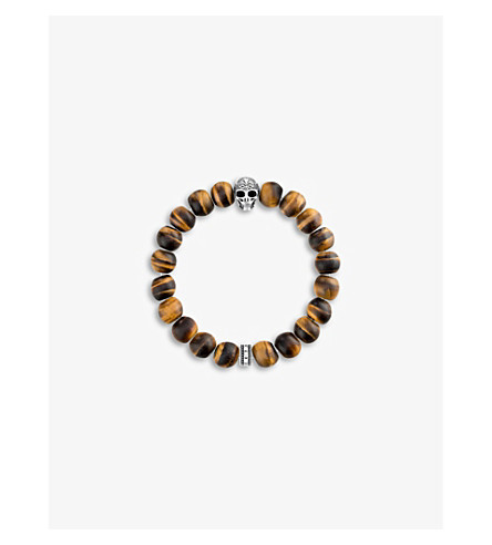 THOMAS SABO Rebel at Heart skull beaded bracelet