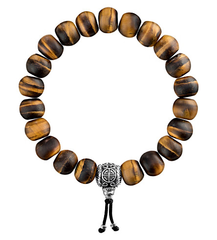 THOMAS SABO Rebel at Heart tiger's eye beaded bracelet
