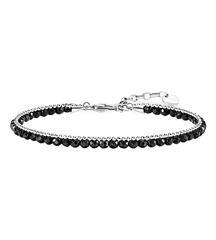 THOMAS SABO Chakra onyx and sterling silver bracelet