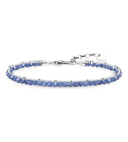 THOMAS SABO Chakra dumortierite and sterling silver bracelet