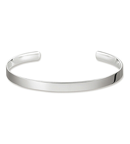 THOMAS SABO Love sterling silver cuff bangle