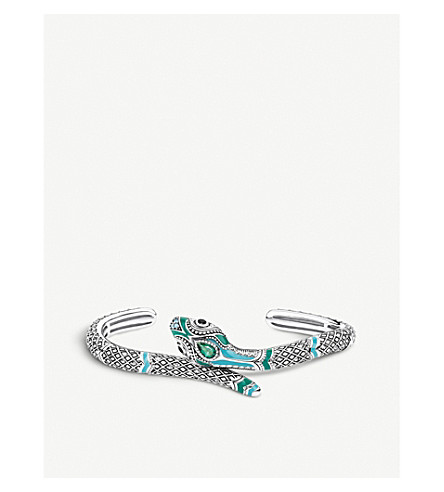 THOMAS SABO Snake sterling silver and enamelled bangle