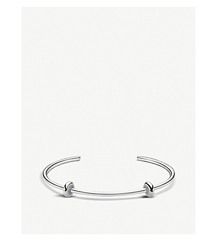 THOMAS SABO Karma beads sterling silver bangle