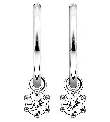 THOMAS SABO Zirconia hinged hoop earrings