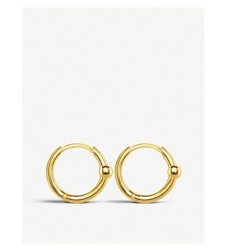 THOMAS SABO Mini bead 18ct yellow gold-plated hoop earrings