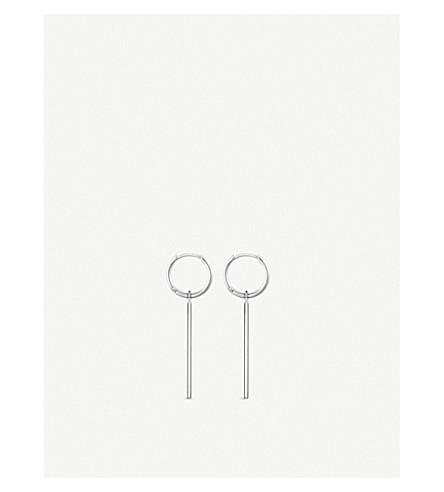 THOMAS SABO Zirconia sterling silver bar and hoop earrings