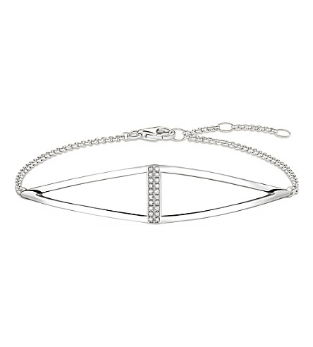 THOMAS SABO Triangle sterling silver and diamond bracelet