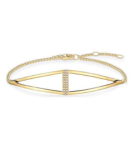 THOMAS SABO Triangle yellow gold-plated and diamond bracelet