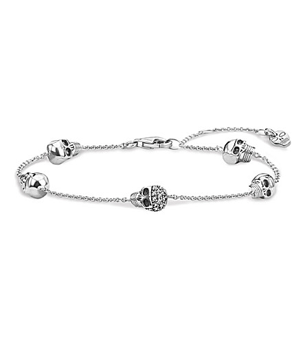 THOMAS SABO Rebel at Heart sterling silver and diamond bracelet