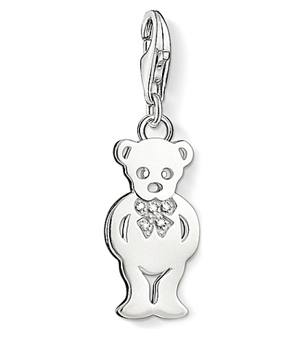 THOMAS SABO Charm club Silver and diamond teddy bear charm