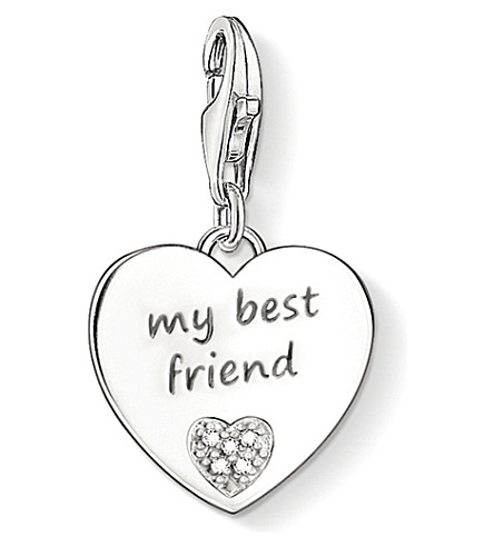 THOMAS SABO Charm club silver and diamond best friend charm