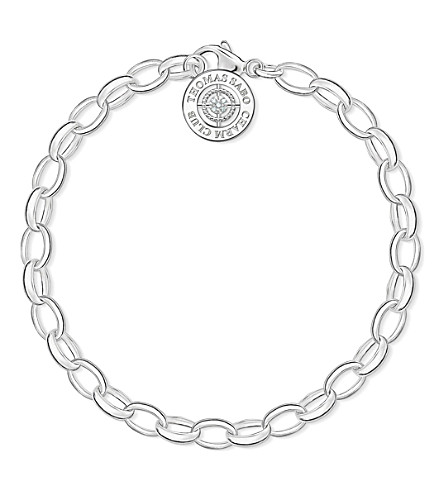 THOMAS SABO Charm Club sterling silver and diamond bracelet