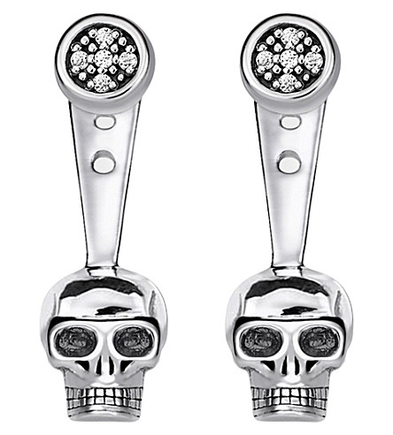 THOMAS SABO Rebel at Heart skull sterling silver diamond ear jackets